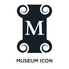 Museum sign icon vector sign and symbol isolated on white background, Museum sign logo concept