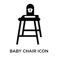 baby chair icon on white background. Modern icons vector illustration. Trendy baby chair icons