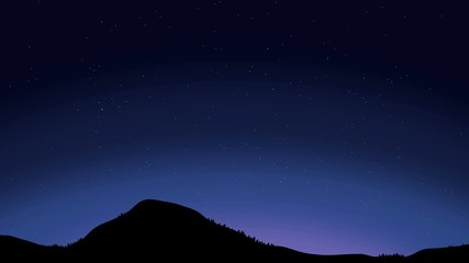 010 Beautiful Night Sky With Shooting Stars Animation