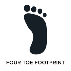 four toe footprint icon on white background. Modern icons vector illustration. Trendy four toe footprint icons
