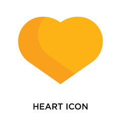 Heart icon vector sign and symbol isolated on white background, Heart logo concept