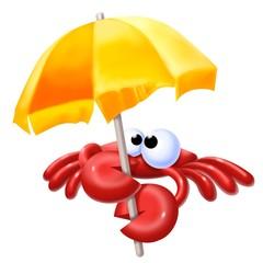 granchio con ombrellome
