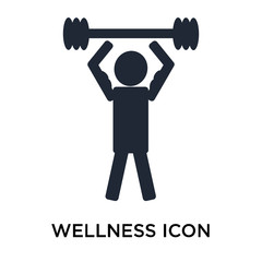 Wellness icon vector sign and symbol isolated on white background, Wellness logo concept