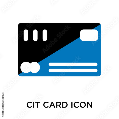 Credit card icon vector sign and symbol isolated on white