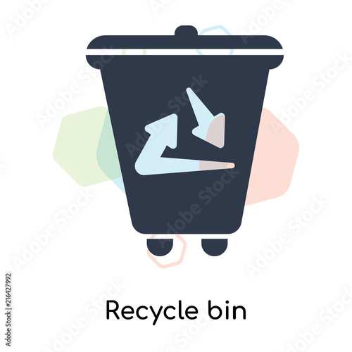 Recycle Bin Icon Vector Sign And Symbol Isolated On White Background