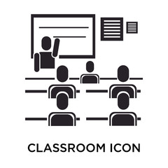 Classroom icon vector sign and symbol isolated on white background, Classroom logo concept