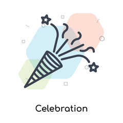 Celebration icon vector sign and symbol isolated on white background, Celebration logo concept