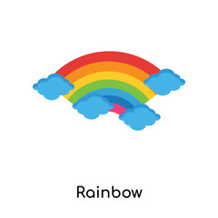 Rainbow icon vector sign and symbol isolated on white background, Rainbow logo concept