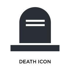 Death icon vector sign and symbol isolated on white background, Death logo concept