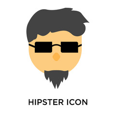 Hipster icon vector sign and symbol isolated on white background, Hipster logo concept