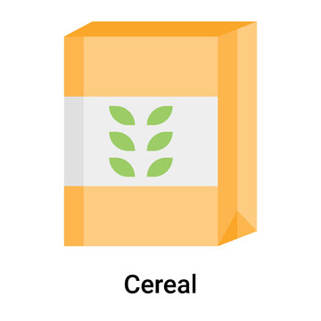 Cereal icon vector sign and symbol isolated on white background, Cereal logo concept