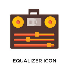 Equalizer icon vector sign and symbol isolated on white background, Equalizer logo concept