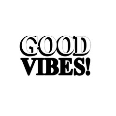 Good Vibes Typography Wall Art