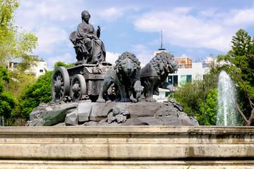 The fountain of Cibeles at Colonia Roma in Mexico City
