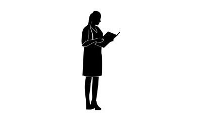 Silhouette images of female doctors see notes
