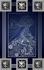 Graphical illustration of a Tarot card 7_2