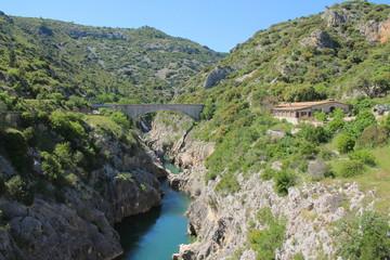 Les magnifiques gorges de l'Hérault, Occitanie, France