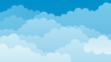 Sky and Clouds.Isolated Object. Vector illustration.