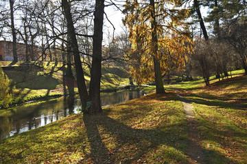 Central Park in Brzeg. Opole voivodeship. Poland