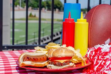 American Football Tailgate Food