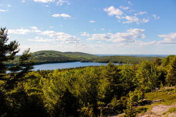 View of Lake and Forest in Acadia National Park