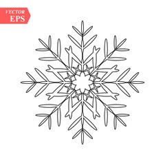 snowflake icon, vector snowflake sign, isolated snowflake symbol