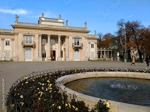 łazienki Park In Warschau Im Herbst Stock Photo And Royalty Free