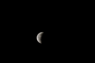 The Earth's Moon. 2018 lunar eclipse
