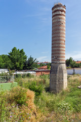 EDIRNE, TURKEY - MAY 26, 2018: Ruins of building from period of  Ottoman Empire in city of Edirne, Turkey