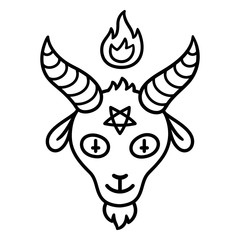 Satan goat head