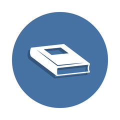 Book icon in badge style. One of education collection icon can be used for UI UX