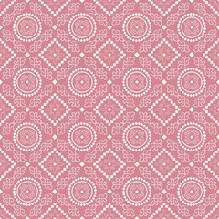 Seamless pattern with ethnic florals