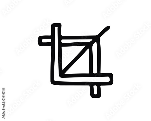 crop hand drawn icon , designed for web and app