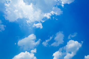 Sunbeam Shine through the cloud on the blue sky