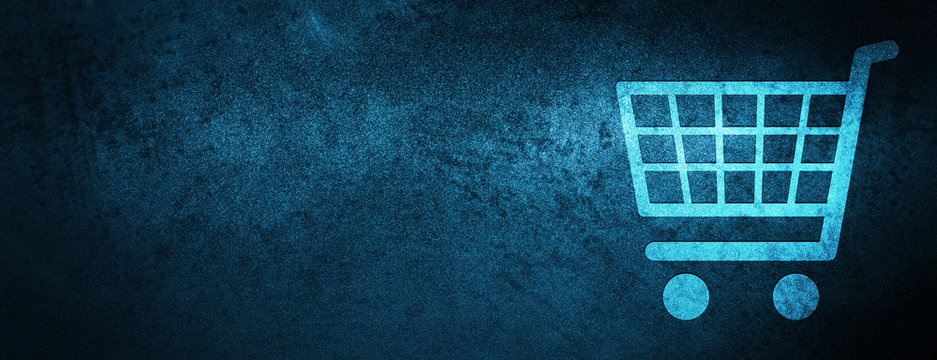 Ecommerce icon special blue banner background