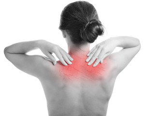 Woman with cracked on back as cosmetic and dehydration effect concept.