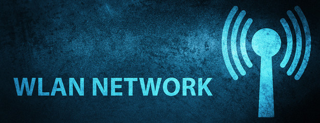 Wlan network special blue banner background