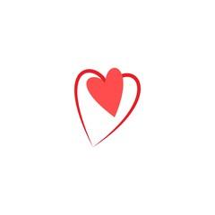 Heart around heart t shirt