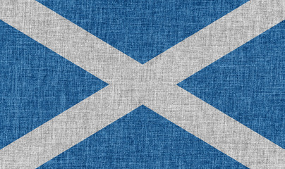 Flag of Scotland on fabric