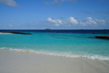 View of the ocean in Baa Atoll, Maldives