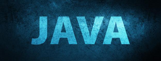 Java special blue banner background