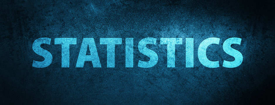 Statistics special blue banner background