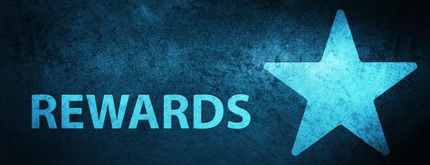 Rewards (star icon) special blue banner background