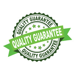 Green rubber stamp with quality guarantee concept