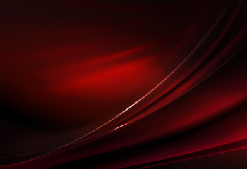 Elegant dark background of red hue with smooth stripes and gentle shine.