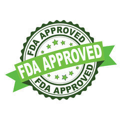 Green rubber stamp with FDA approved concept