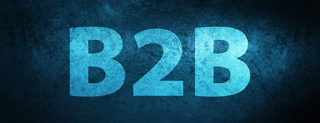 B2b special blue banner background