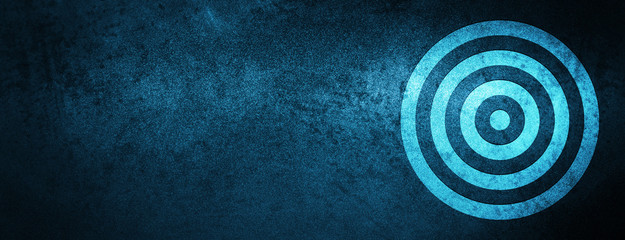 Target icon special blue banner background