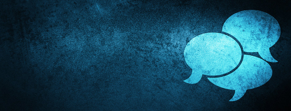 Comments icon special blue banner background