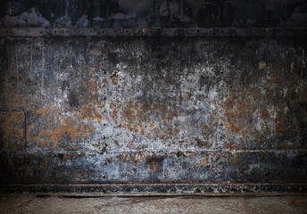 Rust on old metal texture background Wall mural
